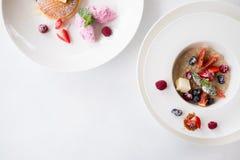 De gezonde juiste voeding van ontbijtmuesli Royalty-vrije Stock Afbeeldingen