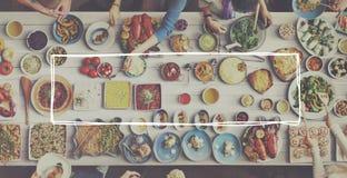 De gezonde Maaltijd die van de Voedsellunch Concept eten Royalty-vrije Stock Afbeelding