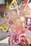 De gezonde picknick van het veganistvoedsel Royalty-vrije Stock Foto's