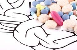 De gezonde Pillen van Hersenen Royalty-vrije Stock Afbeeldingen