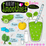 De gezonde reeks van het smoothierecept Stock Foto's