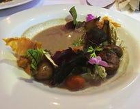 De gezonde Salade van de Veganistpaddestoel Royalty-vrije Stock Foto's