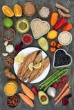 De gezonde Selectie van het Hartvoedsel Stock Foto's