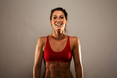 De gezonde Vrouw van de Geschiktheid Stock Foto