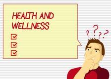 De Gezondheid en Wellness van de handschrifttekst Concept die staat van volledig fysiek, geestelijk en sociaal welzijn betekenen vector illustratie