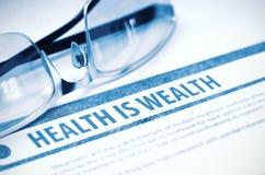De gezondheid is rijkdom geneeskunde 3D Illustratie Stock Foto's
