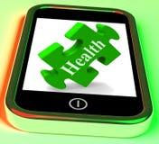 De gezondheid Smartphone betekent zorgend voor en Welzijn royalty-vrije illustratie