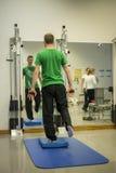 De gezondheid van fysiotherapieoefeningen actieve opleiding royalty-vrije stock foto