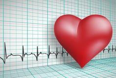 De gezondheidsachtergrond van het hart Stock Afbeeldingen