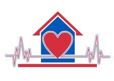 De gezondheidszorg van het huis Stock Afbeeldingen