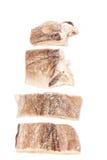 De gezouten lapjes vlees van kabeljauwvissen Stock Afbeeldingen