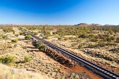 De Ghan-Spoorweg stock foto's