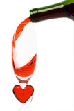 De gietende rode wijn Royalty-vrije Stock Foto