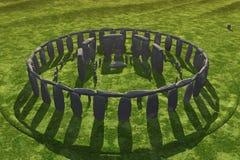 De Gietende Schaduwen van Stonehenge stock illustratie