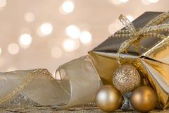 De gift en de decoratie van Kerstmis Stock Foto's