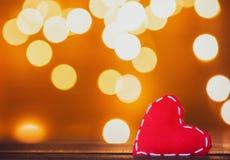 De gift en de Feelichten van de hartvorm royalty-vrije stock foto's