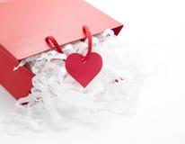 De gift van de Dag van valentijnskaarten Royalty-vrije Stock Foto's