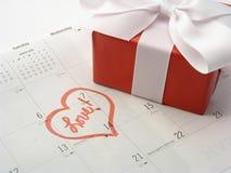 De Gift van de Dag van valentijnskaarten Stock Foto's