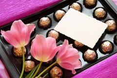 De Gift van de Dag van valentijnskaarten of van Moeders - de Foto van de Voorraad Stock Afbeelding