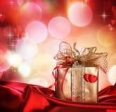 De Gift van de valentijnskaart Stock Foto