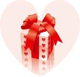 De gift van de valentijnskaart royalty-vrije illustratie