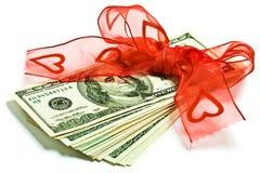 De gift van het geld Stock Foto
