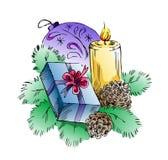De gift van het nieuwjaar en van Kerstmis Stock Foto