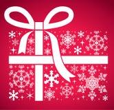 De Gift van Kerstmis van de sneeuwvlok Stock Afbeeldingen
