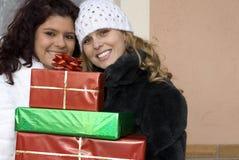 De gift van Kerstmis of van de verjaardag, heden Stock Afbeeldingen