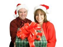 De Gift van Kerstmis voor u Royalty-vrije Stock Foto's