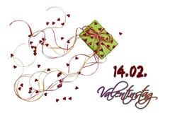 De gift van de valentijnskaart `s Stock Afbeeldingen