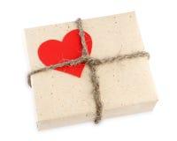 De giftdoos van de Dag van de valentijnskaart Stock Foto's