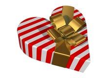 De giftdoos van de valentijnskaart Stock Afbeeldingen