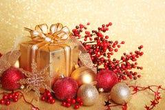 De giftdoos van Kerstmis Stock Afbeeldingen