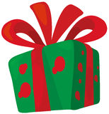 De giftdoos van Kerstmis Stock Afbeelding