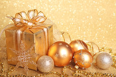 De giftdoos van Kerstmis Stock Foto's