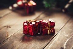 De giftdoos van Kerstmis Stock Foto