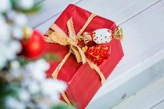 De giftdoos van Kerstmis royalty-vrije stock foto's