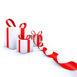 De giftdozen van Kerstmis Royalty-vrije Stock Foto's