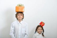 De giftdozen van Kerstmis Stock Foto's