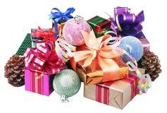 De giften en de decoratie van Kerstmis Royalty-vrije Stock Foto
