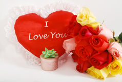 De giften van de Dag van de valentijnskaart   Royalty-vrije Stock Afbeelding