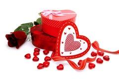 De giften van de Dag van valentijnskaarten Stock Afbeelding