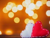De giften van de hartvorm en Feelichten stock afbeelding
