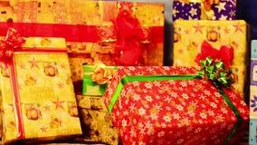 De giften van Kerstmis stock footage
