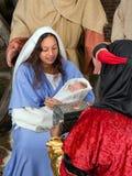 De giften van Kerstmis voor Jesus Stock Foto's