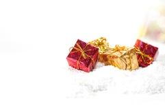 De giftenachtergrond van Kerstmis Royalty-vrije Stock Afbeelding
