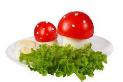De giftige paddestoelen van de tomaat stock afbeelding
