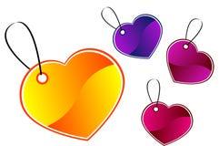 De giftmarkeringen van het hart Royalty-vrije Stock Foto's