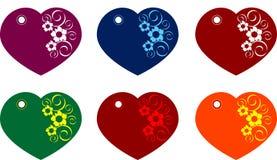 De giftmarkeringen van het hart Stock Afbeeldingen